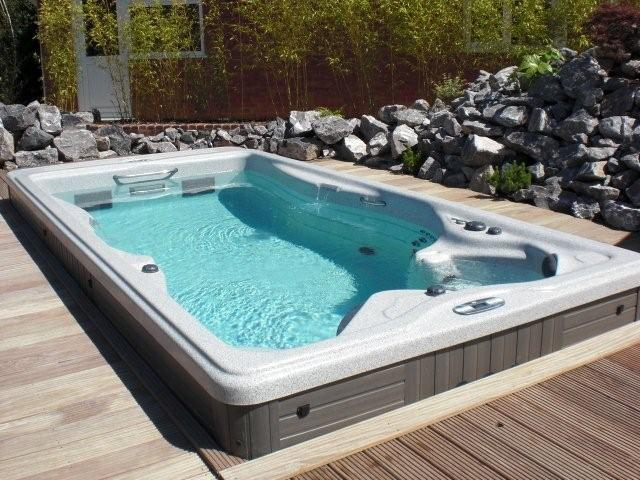 Swim Spa with wraparound deck