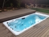 Swim Spa with flush deck