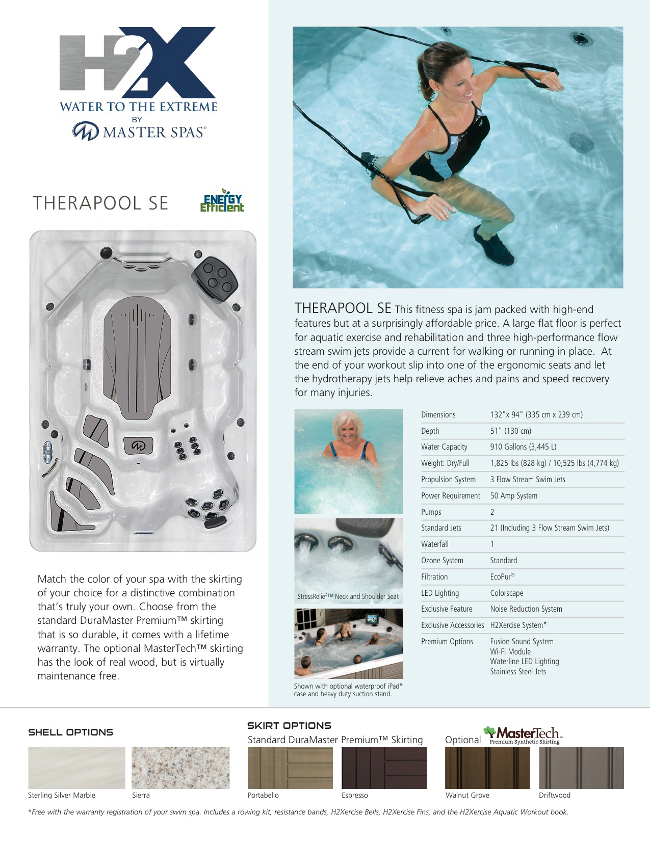 H2X Trainer Therapool SE Swim Spa