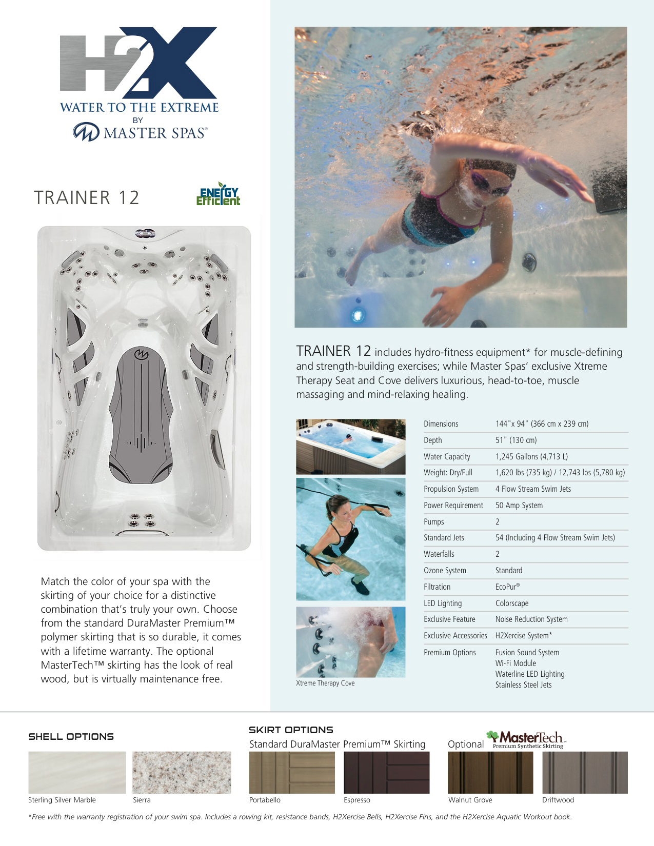 H2X Trainer 12 Swim Spa