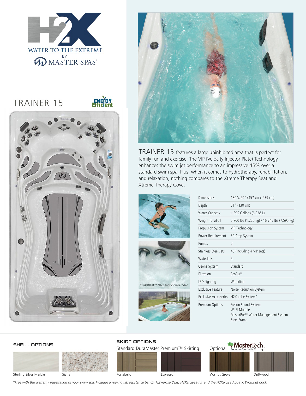 H2X Trainer 15 Swim Spa