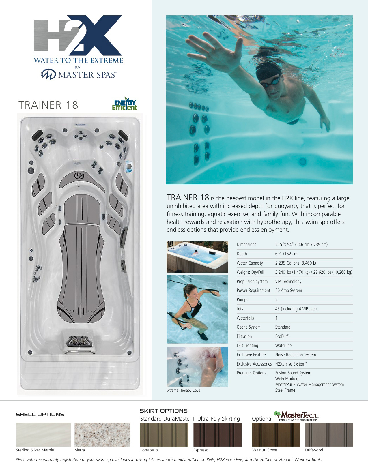 H2X Trainer 18 Swim Spa
